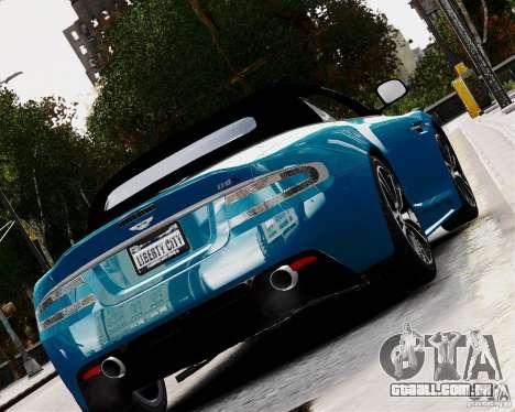 Aston Martin DBS Volante 2010 v1.5 Diamond para GTA 4 traseira esquerda vista