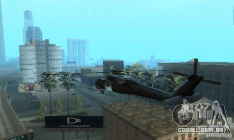 UH-60M Black Hawk para GTA San Andreas traseira esquerda vista