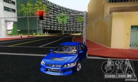 Mitsubishi Lancer Evolution 9 MR Edition para GTA San Andreas traseira esquerda vista