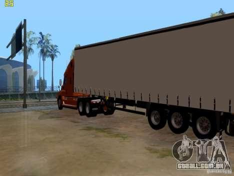 Freightliner Cascadia para GTA San Andreas traseira esquerda vista