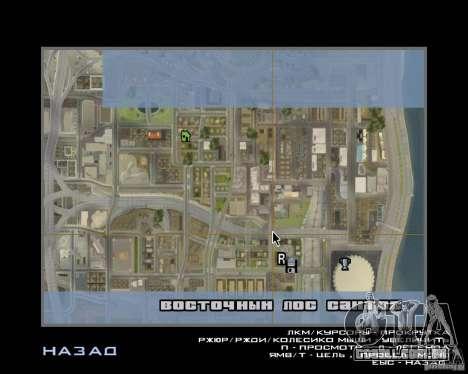 Detailed Map and Radar Mod para GTA San Andreas