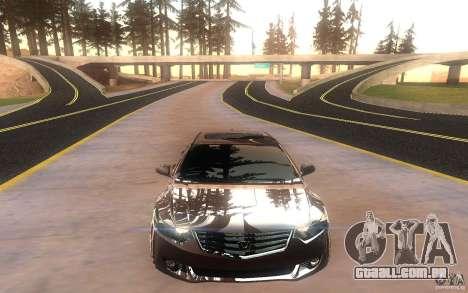 Honda Accord para GTA San Andreas vista traseira