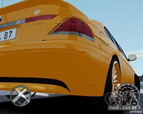 BMW Alpina B7 para GTA 4 vista direita