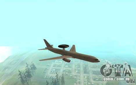 Boeing E-767 para GTA San Andreas esquerda vista