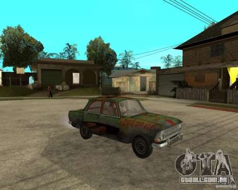 Bloodring Moskvich 412 para GTA San Andreas vista direita