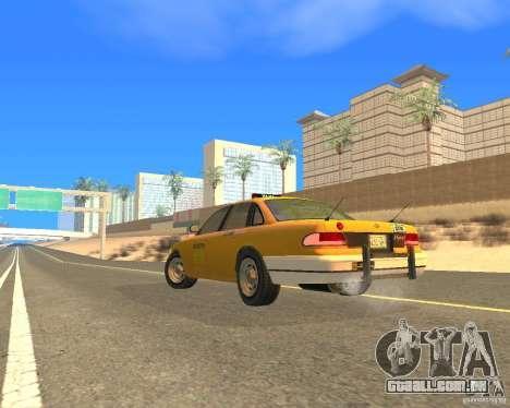 Taxi from GTAIV para GTA San Andreas esquerda vista