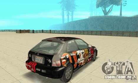 Honda-Superpromotion para GTA San Andreas esquerda vista