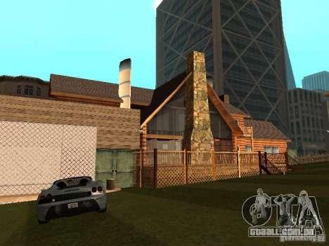 Villa em San Fierro para GTA San Andreas por diante tela
