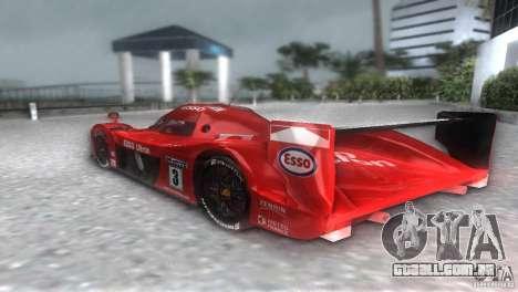 Toyota GT-One TS020 para GTA Vice City vista traseira esquerda