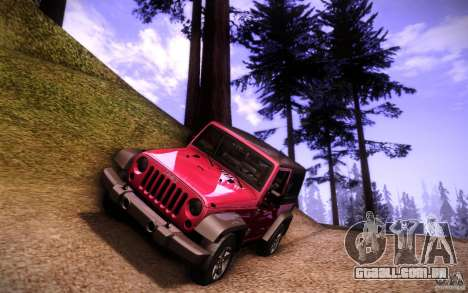 Jeep Wrangler Rubicon 2012 para GTA San Andreas vista inferior