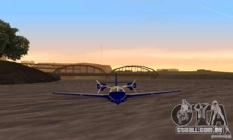 Beriev ser-103 para GTA San Andreas traseira esquerda vista