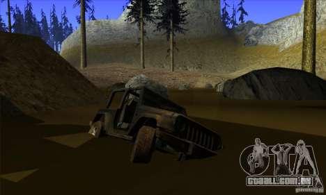 Jeep Wrangler para GTA San Andreas vista inferior