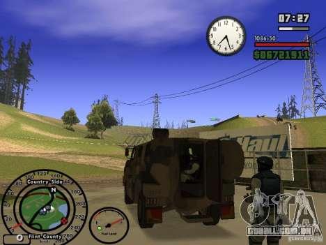 Australian Bushmaster para GTA San Andreas vista direita