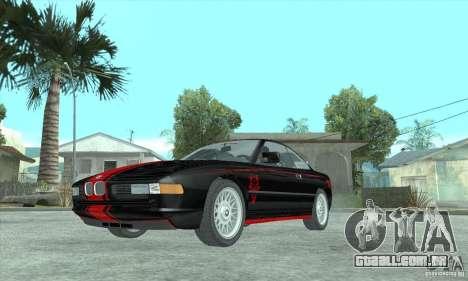 BMW 850i para GTA San Andreas vista traseira