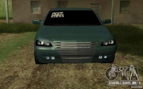 VAZ Lada Priora para GTA San Andreas traseira esquerda vista