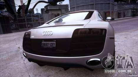 Audi R8 V10 para GTA 4 vista interior