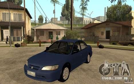 Honda Accord 2001 beta1 para GTA San Andreas