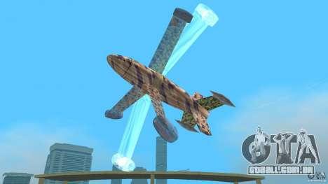 Conceptual Fighter Plane para GTA Vice City vista traseira
