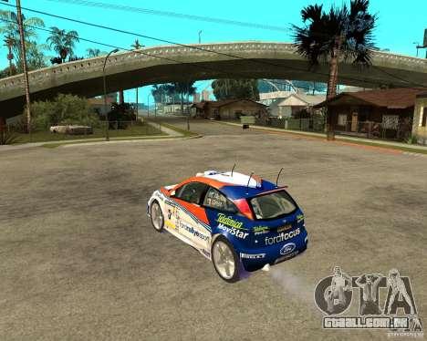 Ford Focus WRC 2002 para GTA San Andreas esquerda vista