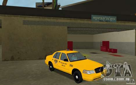 Ford Crown Victoria Taxi para GTA Vice City vista traseira