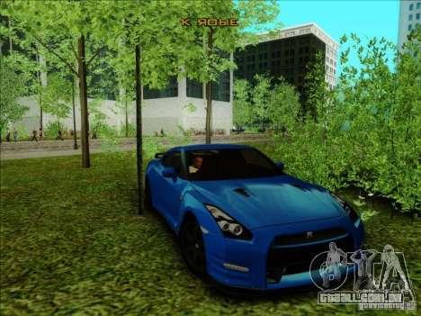Nissan GTR Egoist 2011 para GTA San Andreas traseira esquerda vista