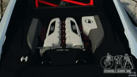 Audi R8 GT 2012 para GTA 4 vista lateral