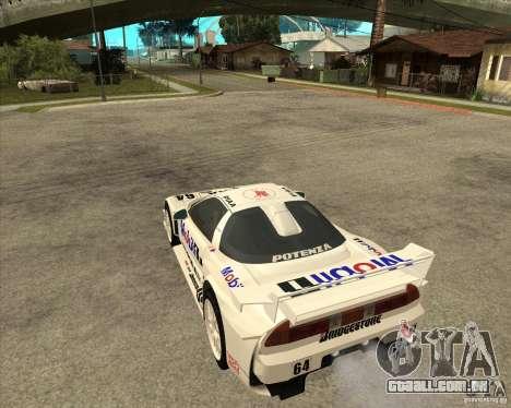 2001 Honda Mobil 1 NSX JGTC para GTA San Andreas esquerda vista