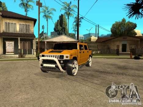 Hummer H2 4x4 diesel para GTA San Andreas