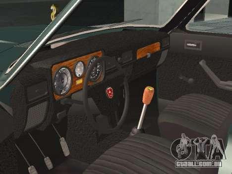 GAZ 24-10 v 2. para GTA San Andreas vista traseira