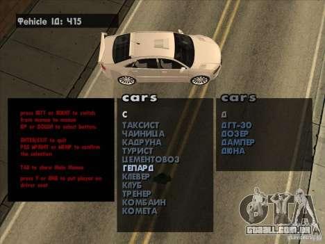 Máquinas de veículo Spawner Premium-Spauner para GTA San Andreas terceira tela