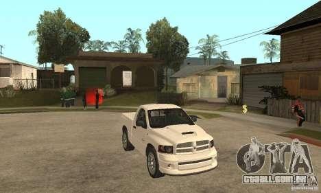 Dodge Ram SRT 10 para GTA San Andreas vista traseira