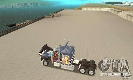 Peterbilt 359 para GTA San Andreas vista traseira