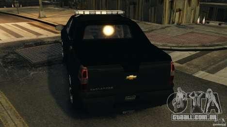 Chevrolet Avalanche 2007 [ELS] para GTA 4 rodas