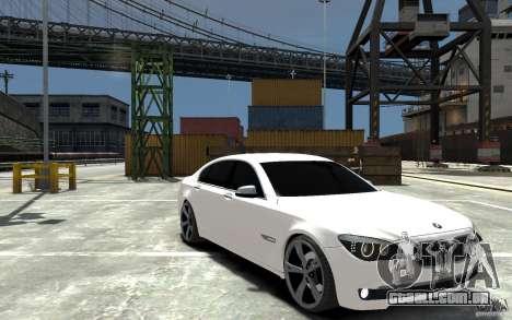 BMW 750 LI F01 v1.3 para GTA 4 vista de volta