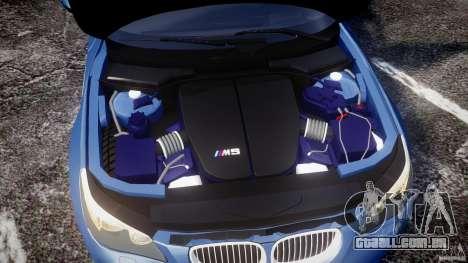 BMW M5 E60 2009 para GTA 4 vista interior