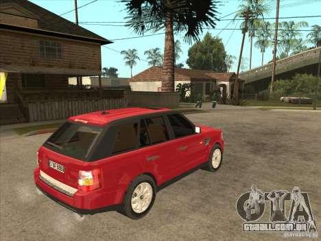 Range Rover Sport 2007 para GTA San Andreas vista direita