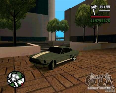 Ford Mustang 67 HotRot para GTA San Andreas esquerda vista