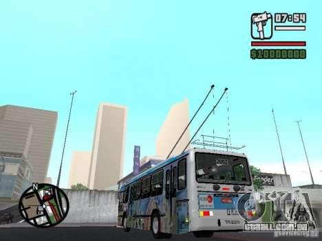 Marcopolo Torino GV Trolebus para GTA San Andreas traseira esquerda vista
