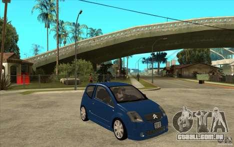 Citroen C2 - Stock para GTA San Andreas vista traseira