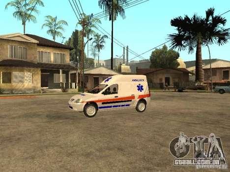 Dacia Logan Ambulanta para GTA San Andreas esquerda vista