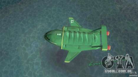 ThunderBird 2 para GTA Vice City vista traseira esquerda
