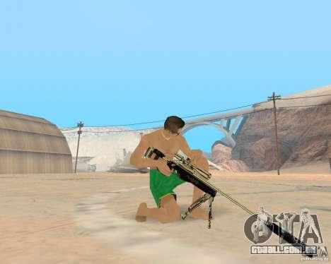Gold weapons pack para GTA San Andreas por diante tela