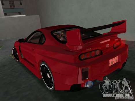 Toyota Supra Chargespeed para GTA Vice City vista direita