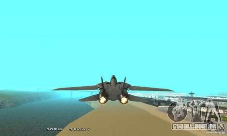 F14W Super Weirdest Tomcat Skin 2 para GTA San Andreas vista traseira