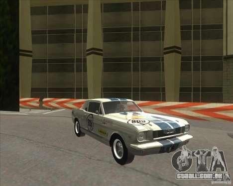 Ford Mustang 1965 para GTA San Andreas esquerda vista