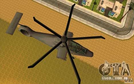 Sikorsky RAH-66 Comanche default grey para GTA San Andreas esquerda vista