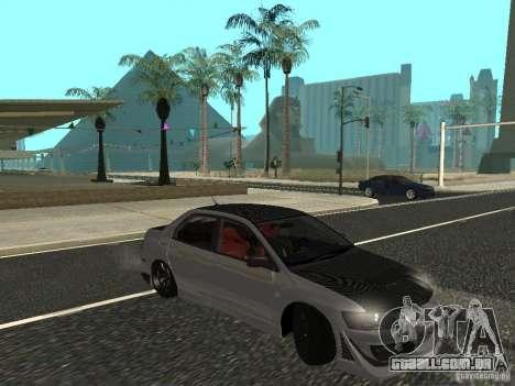 Mitsubishi Lancer Evolution VIII para GTA San Andreas esquerda vista