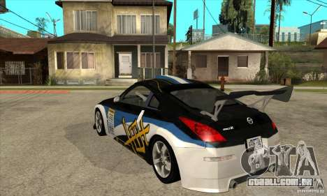 Nissan 350z Stock - Tunable para GTA San Andreas vista interior