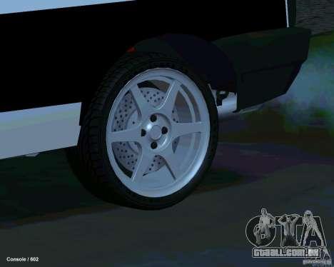 VAZ 2108 Drag para GTA San Andreas vista inferior