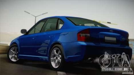 Subaru Legacy 2004 v1.0 para GTA San Andreas traseira esquerda vista